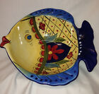 TABLETOPS UNLIMITED ESPANA TOLUCA SCULPTED FISH BOWL 10 1/2