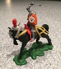 Vintage 1950s Britains LTD Swoppet 15th Century Knights Black Horse Knight