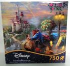 Kinkade Disney Dreams Collection: Beauty and The Beast Falling in Love Puzzle