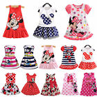 Kids Baby Girl Mickey Minnie Mouse Party Dress Summer Vest Skirt Toddler Clothes