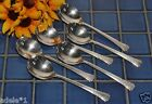 Set of 6 Oneida 1881 Rogers Silverplate  DEL MAR Round Gumbo Soup Spoons 1939