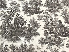 White French Rustic TOILE 100% Cotton WAVERLY Decor Fabric, 56W