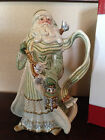 FITZ AND FLOYD GREGORIAN SANTA PITCHER BEAUTIFUL FOR CHRISTMAS IN BOX