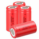 Red 4 x 1.2V 1800mAh Ni-Cd NiCd Rechargeable Battery Batteries SubC SC with Tab