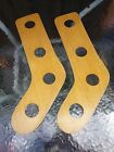 Antique Stocking Stretchers Wooden Sock Forms Long Foot Has BIG HOLES!