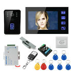 RFID 7 LCD Electronic Lock Touch Button Night Vision Video Door Phone Intercom