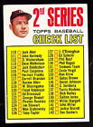 1967 TOPPS #103 CHECKLIST W MICKEY MANTLE UNMARKED