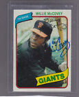 *WILLIE MCCOVEY* 1980 Topps Hand-Signed Auto SAN FRANCISCO GIANTS