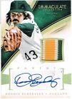 2014 Panini DENNIS ECKERSLEY Immaculate Collection Autograph Patch Prime #d 1 20