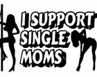 I Support Single Moms Cool Funny Car Truck Window Vinyl Decal Sticker 12 COLORS