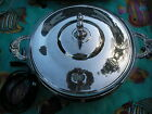 Silver Plated Electrical Casserole Dish with Pyrex Insert