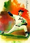 TOM SEAVER NEW YORK METS SKETCH CARD SIGNED #9 9 VELA ART SOLD OUT AUTO