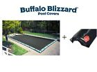 Buffalo Blizzard 16 x 36 Rectangle Mesh Swimming Pool Winter Cover w Water Tube