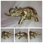 PRETTY VINTAGE SOLID BRASS  ELEPHANT ANIMAL FIGURAL Excellent Condition