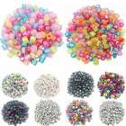 100Pcs Mixed Alphabet Letter Round Acrylic Spacer Loose Beads Jewelry Making DIY