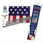 Valley Forge All American Series 3 piece Pole Kit USA MADE Flag Wall Mount