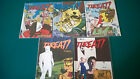 THREAT COMIC MAGAZINE ISSUES 1 2 3 4 AND 8 EXCELLENT