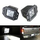 Dually Flush Mount 4D Optic Projector LED Pod Lights For Truck Jeep Off-Road ATV