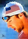 Michael Phelps Team USA Rio Olympic Sketch Card - Limited 4 5 *David Lee Signed*