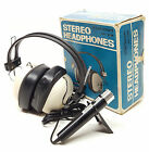 Vintage New in Box CLARICON 85-288 Stereo Headphones ASTREX Microphone Mic 8 Ohm