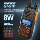 Baofeng GT-5TP 8W HP Dual PTT 136-174/400-520MHz Ham Two-way Radio Walkie Talkie