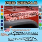 Jeep WRANGLER Canadian Mountain Hood Decal Stickers 1 Pair SH 1138