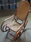 Antique Thonet Cane Bentwood Rocking Chair Made In Poland Vintage Furniture
