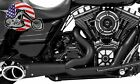 Freedom Performance Exhaust Black Turn Out 2 Into 1 Header Pipe Harley Touring