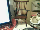 RARE VINTAGE SMALL WINDSOR SPINDLE BACK ARM CHAIR MINI DECORATING ITEM