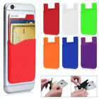 Silicone Wallet Credit ID Card Adhesive Holder Case For iPhone Samsung Phones