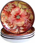 Certified International Watercolor Poppies Soup/Pasta Bowl Set of 4