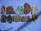 Ten Fine Slabs for Good Cabochons, Agates, Jaspers, Chrysocolla