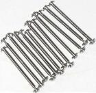 12Pcs.Gucci Type Watch Screw Lugs(T-Bars)Silver Tone Length:16MM,Thickness:1.3MM
