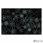 HALLOWEEN Party Decoration Prop Black SPIDER WEB Backdrop Photo Mural Banner
