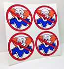 NO BOZOS Vintage Style DECALS 2 Inch 4 pack Vinyl STICKERs rat rod racing