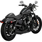 Vance  Hines Black Upsweep Exhaust 2 into 1 for Harley Sportster XL 07 18
