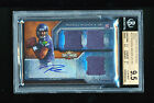 BGS 9.5 RUSSELL WILSON 2012 TOPPS TRIPLE THREADS SEPIA SEAHAWKS JERSEY AUTO # 70
