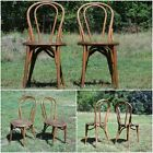 Antique Pair 1900s Bentwood Chairs Bistro Ice Cream Parlor Cafe Seating Vintage
