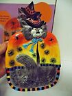 Fitz and Floyd Halloween Decor Kitty Witches Canape Plate with Spiders NIB