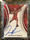 2015-16 Immaculate DENNIS RODMAN Red Parallel AUTO Card # 07 25 BULLS