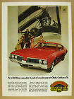 1969 Olds Cutlass S red oldsmobile car photo vintage print Ad