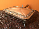 Vintage Silver on Copper Silent Butler Crumb Catcher Embossed Top and Feet