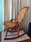 Old Rocking Chair with Restored Cane Work, American Quality