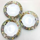3 Sakura Jungle Animals Oneida Stephanie Stouffer Rimmed Soup Bowls Stoneware
