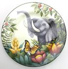 Sakura Jungle Animals Salad Plate Oneida Stephanie Stouffer Elephant Butterfly
