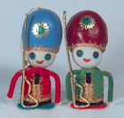Vintage Pair Of Soldiers With Rifles Japan Christmas Ornaments 5