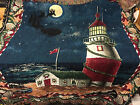 Lighthouse Christmes Theme Tapestry Wall Hanging