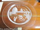 Daum Nymphea Plate French Crystal 1981 Swan Lake Intaglio Art Glass 8 1 2am5