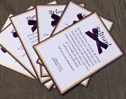 Will You Be My Bridesmaid Card Dark Purple And Gold Wedding Invitation