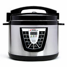 New Stainless Steel Electric Power Pressure Cooker XL 1400W w/ Slow Cook 10 qt.